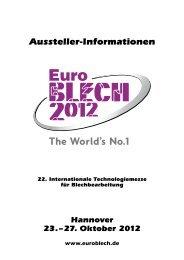 EuroBLECH 2012 A-Z Austellerinfos
