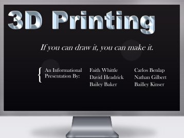 3D Printing - Faculty Web Pages