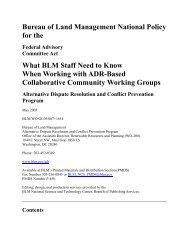 What BLM Staff Need to Know When Working with - Bureau of Land ...
