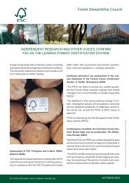 Independent Reports on FSC PDF, Size: 219,25 KB Added - Forest ...