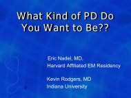 What Kind of PD Do You Want to Be?? - Council of Emergency ...