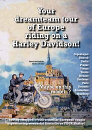 Your dreamteam tour of Europe riding on a Harley Davidson!