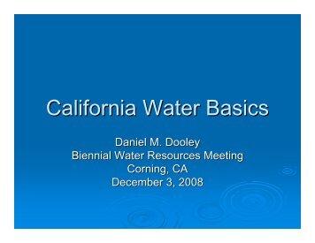 California Water Basics