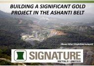 Investor Presentation - Signature Metals
