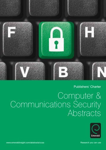 Computer & Communications Security Abstracts