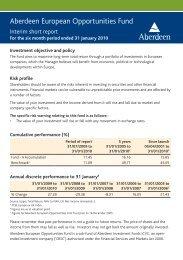 Aberdeen European Opportunities Fund - Aberdeen Asset ...