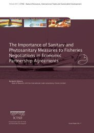The Importance of Sanitary and Phytosanitary Measures to ... - ictsd