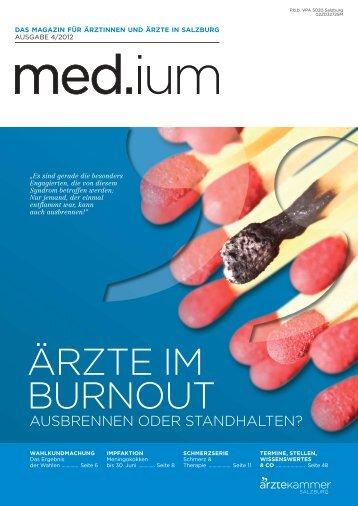 ÄRZTE IM BURNOUT - Ärztekammer für Salzburg