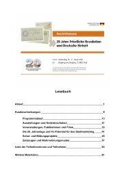 Lesebuch - Bundesstiftung zur Aufarbeitung der SED-Diktatur