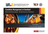 Condition Management at OneSteel - Transfield Worley