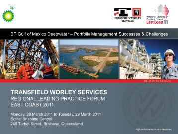 Portfolio Projects - Transfield Worley