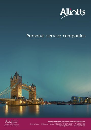 Personal service companies - Taxbriefs content for Alliotts