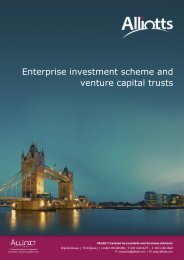 Enterprise investment scheme and venture capital trusts - Taxbriefs ...
