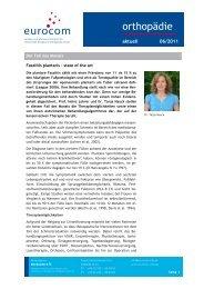 orthopädie aktuell Juni 2011  - Eurocom