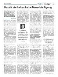 hausärzte haben keine Benachteiligung - apo-click.ch
