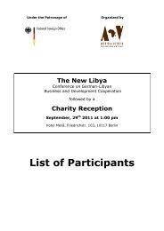 The New Libya - Afrika-Verein der deutschen Wirtschaft eV