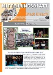 Mitteilungsblatt - Stadt Elzach