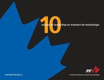 version PDF (1375 KB) - Partenaires fédéraux en transfert de ...