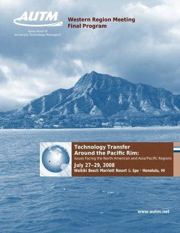 Technology Transfer Around the Pacific Rim: Western Region ...