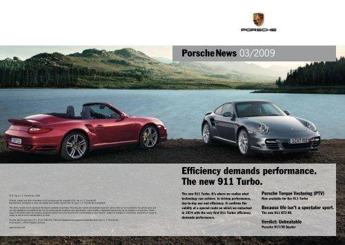 Porschenews 03/2009 Efficiency demands performance. The new 911