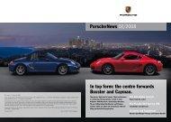 the centre forwards Boxster and Cayman. - Porsche