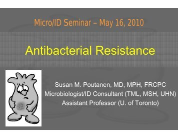 Antibacterial Resistance - Infectious Diseases