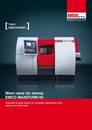 More value for money. EMCO MAXXTURN 65