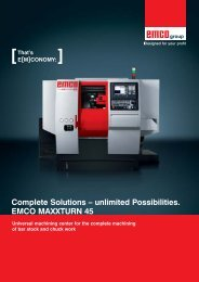 Complete Solutions – unlimited Possibilities. EMCO MAXXTURN 45