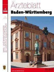 Ärzteblatt Baden-Württemberg 3-2008 - Landesärztekammer Baden ...