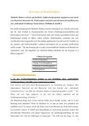 Bewertung von Metabolic Balance - Dr. Kurt A. Moosburger
