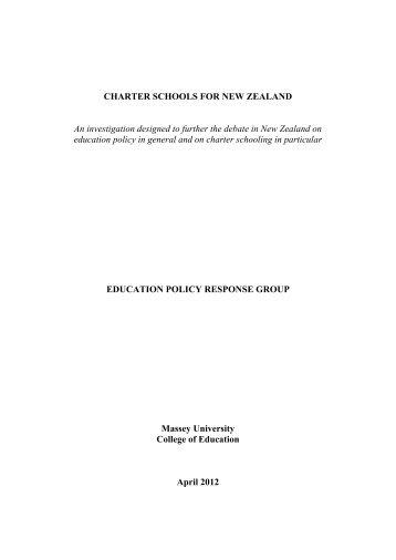 Eprg charter schools for new zealand report