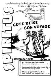 Dezember 2005 (917 KB) - Pfarrei Starnberg