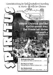 September 2005 - Pfarrei Starnberg