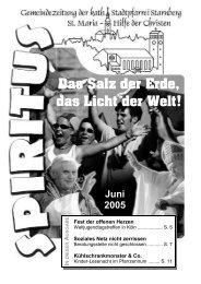 Juni 2005 - Pfarrei Starnberg