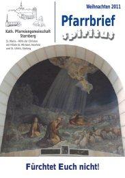 Weihnachten 2011 Pfarrbrief - Pfarrei Starnberg