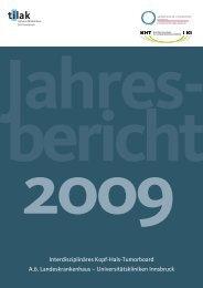Jahres- bericht 2009 - Univ. HNO Klinik Innsbruck - UKI