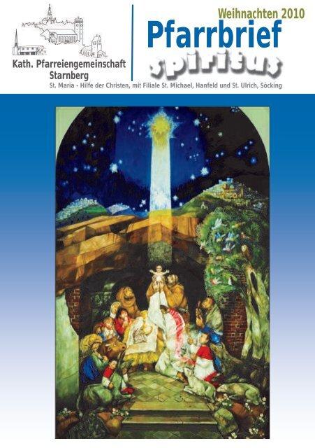 Pfarrbrief Weihnachten 2010 - Pfarrei Starnberg
