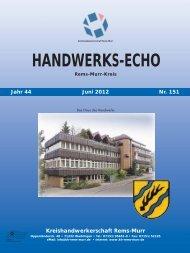 Handwerks-Echo Nr. 151 - Kreishandwerkerschaft Rems-Murr