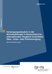 Versorgungssituation in der Schmerztherapie in Deutschland - Dimdi