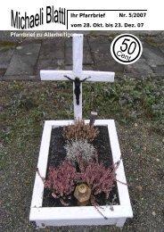 Der nächste Pfarrbrief erscheint am 23. Dez. 2007 - Pfarrei ...