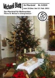 Der nächste Pfarrbrief erscheint am 13. Feb. 2011 - Pfarrei ...