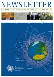 New in 2012 - European Mathematical Society Publishing House