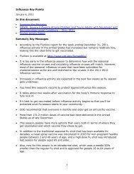 Influenza Key Points 1 In this document: • MMWR: Severe Influenza ...