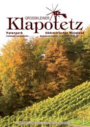 Klapotetz - 26. Jahrgang - Oktober 2007 - Nr. 3 (pdf