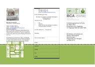 An der Fortbildung für Ärzte Ich - BCA-clinic