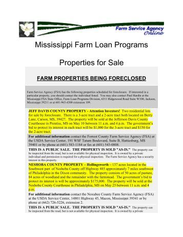 Farm for Usda homes for sale in ms