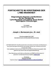 Fortschritte im Verständnis der Lyme-Krankheit – Diagnostische ...