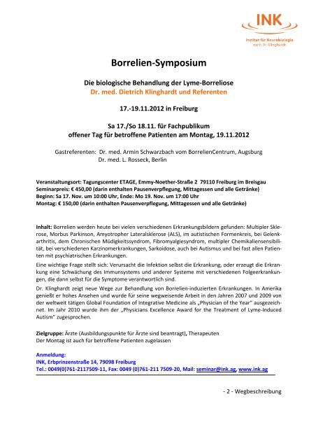 Borrelien-Symposium Nov2012 - INK