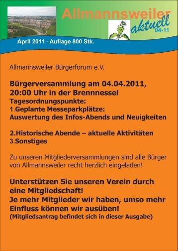 Ausgabe April 2011 - Allmannsweiler