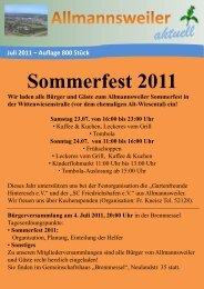 Sommerfest 2011 - Allmannsweiler